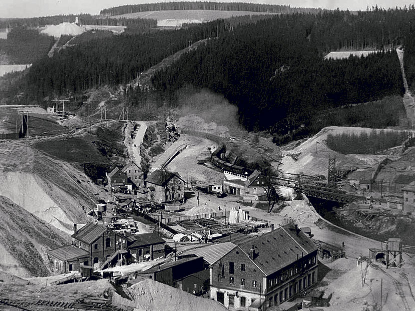 Erzgebirgen uraanikaivos vuonna 1952