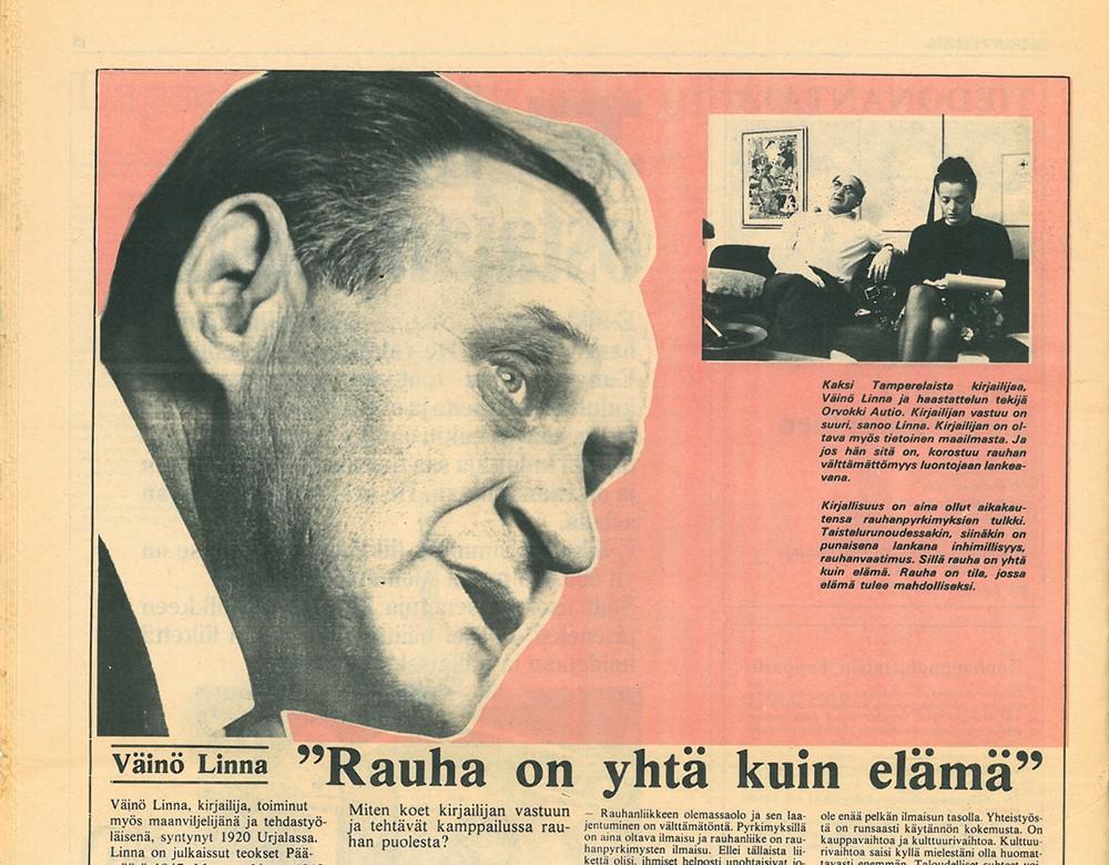 Rauhan Puolesta -lehti 70-luvulla